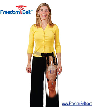 Freedom Belt - secure drainage bag holder